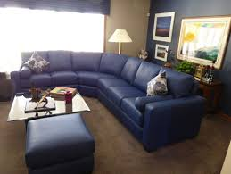Navy Blue Leather Sectional Sofa Sectional Sofa Design Amazing Navy Blue Leather Intended For Decor