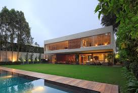 exterior modern home exterior decoration with green lawn also