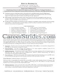 Operations Management Resume Examples Resume For Director Of Operations Director Of Operations Resume