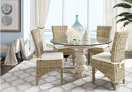 cindy crawford home key west sand 5 pc round dining room with