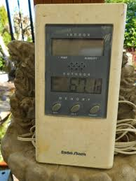 Patio Thermometer by Gardening With Grace Spring U0027s Early Arrival