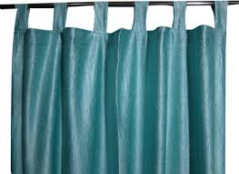 Sari Curtain Window Dressing Aero Blue Tab Top 2 Sari Curtain Drape Panel
