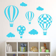 amazon com decowall dwg 602 3b hot air balloons graphic amazon com decowall dwg 602 3b hot air balloons graphic stickers blue kitchen dining