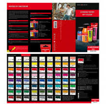 winsor u0026 newton winton hand painted colour chart colour