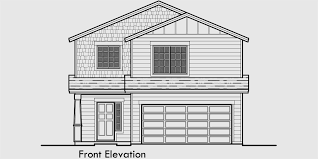 two story house plan narrow lot house plans building small houses for small lots