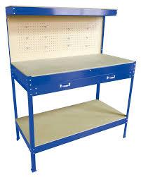 Jewellery Work Bench Steel Garage Tool Box Work Bench Storage Pegboard Shelf Diy