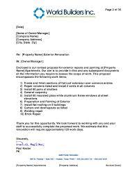 example bid proposal