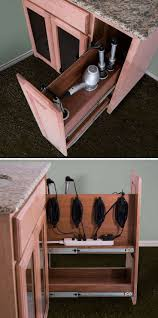 pojjo 9 in cabinet pullout hair appliance holder storage system