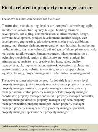 Property Manager Resume Samples by Top 8 Property Manager Resume Samples