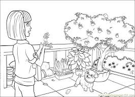 barbie thumbelina coloring free barbie coloring pages