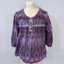 purple blouse plus size gloria vanderbilt gloria vanderbilt cotton purple blouse plus
