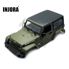 jeep car green olive green rc rock crawler 1 10 jeep wrangler rubicon car shell