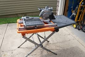 ridgid table saw miter gauge ridgid 8 tile saw review model r4040s tools in action power