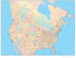 map of canada us map of canada and us with cities map canada and us with