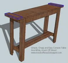 Ana White Build A 5 Board Bench Free And Easy Diy Project And by Ana White Simple Cheap And Easy Console Table Diy Projects