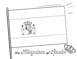 printable spanish flag coloring page free pdf download at http