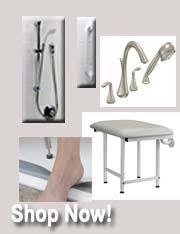 handicap showers walk in shower kits universal design