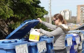 garbage collection kitchener blue box blue and grey cart recycling programs