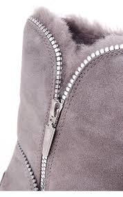 womens ugg zipper boots ugg womens ugg australia florence suede boot with zip detail and