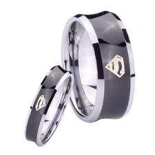 superman wedding band wedding rings