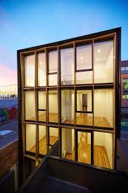 boutique apartment building design idea from long narrow shop