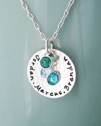 mothers necklace 87 best custom sterling silver necklaces images on