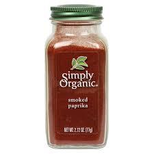 smoky paprika simply organic smoked paprika 2 72 oz simply organic