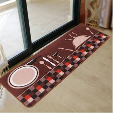 kitchen mat cook spoon pastoral carpet soft entrance door mat