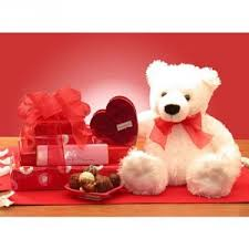 teddy bears for valentines day chocolates and teddy gift basket by teddy s
