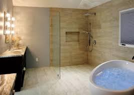 Unique Open Shower Bathroom Design For Home Design Ideas With Open - Open shower bathroom design