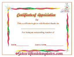 best performance teaching award certificate template