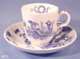 Dragon Coffee Cup Royal Worcester Blue Dragon Vintage Bone China Coffee Cup And
