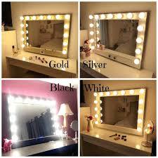 Lighted Vanity Mirror Diy Vanities Makeup Mirrors With Light Bulbs Ireland Diy Makeup