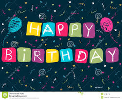 happy birthday card stock vector image of pink line 25787212