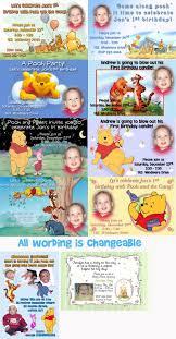 Winnie The Pooh Invitation Cards 3 Creative Winnie The Pooh Photo Birthday Invitations