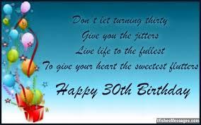 30th birthday card messages lilbibby com