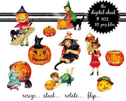 vintage halloween clip art digital clipart vintage halloween clipart pumpkins black cats