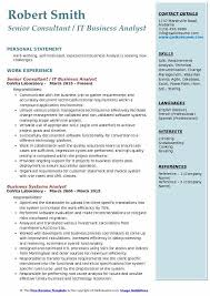 business analyst resume exles it business analyst resume sles qwikresume