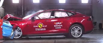 bugatti crash test tesla model s 2014 scores 5 5 in euro ncap crash test car news