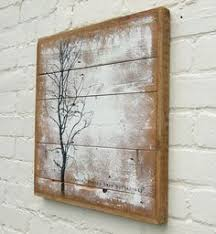 distressed wood artwork stag print on wood wall wall by graham and brown home