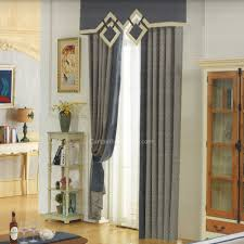 Living Room Curtains With Valance by Curtain Set For Living Room Breathable 4 Colors Sheer Window