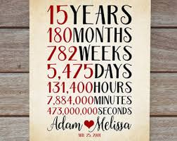 15 year anniversary gift for him awesome 15 year wedding anniversary ideas gallery styles ideas