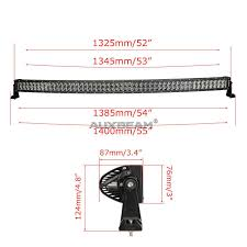 Philips Led Light Bar by Auxbeam 52 Inch 300w Philips Curved Hyperspot U0026 Flood Combo Dual