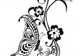 butterfly and flower designs flower and butterfly