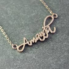 necklace with name online images Online shop personalized name necklace signature necklace rose jpg
