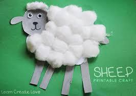 printable sheep craft