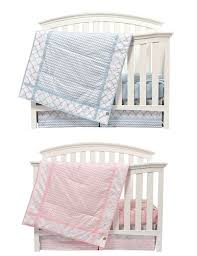 matching pink and green boy nursery bedding sets for twins