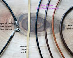 necklace cord with clasp images Leather necklace etsy jpg
