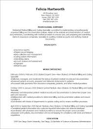 professional medical billing and coding specialist resume