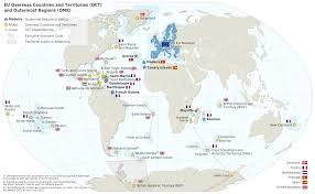 European Union Map by Map Of The European Union Overseas Countries U0026 Territories And